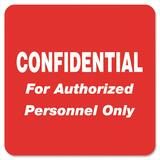 Tabbies Confidential Authorized Personnel Only Label