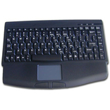 Solidtek Mini Keyboard 88 keys with Touchpad Mouse - PS/2 - Black (KB-540BP5)