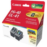 Canon PG-40 Black and CL-41 Tri-color Ink Cartridges