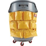 "Rubbermaid Brute Round Container Caddy Bag - 20"" Width x 20.50"" Length - Yellow - Nylon - 1Each - Cleaning Supplies"