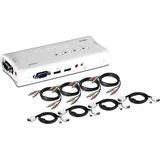 TRENDnet 4-Port USB KVM Switch Kit with Audio - 4 x 1 - 4 x HD-15 Keyboard/Mouse/Video (TK-409K)