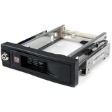 StarTech.com 5.25in Trayless Hot Swap Mobile Rack for 3.5in Hard Drive - 1 x 3.5 - 1/3H Internal Hot-swappable - Inte (HSB100SATBK)