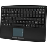 Adesso AKB-410UB Slim Touch Mini Keyboard with Built in Touchpad - USB - 88 Keys - Black (AKB-410UB)