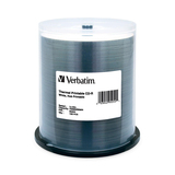Verbatim CD-R 80MIN 700MB 52x White Thermal Printable, Hub Printable 100pk Spindle