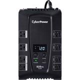 CyberPower Intelligent LCD CP825AVRLCD 825 VA Desktop UPS - 825VA/450W - 2 Minute Full Load - 4 x NEMA 5-15R - Batter (CP825AVRLCD)