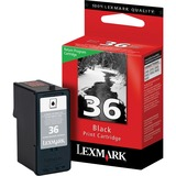 Lexmark No. 36 Ink Cartridge - Alternative for Lexmark - Inkjet - Standard Yield - 175 Pages - Black - 1 Each (18C2130)