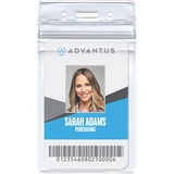 Advantus Vertical Resealable Badge Holder