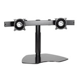 Chief KTP220B Dual Horizontal Monitor Table Stand - Up to 35lb Flat Panel Display - Black (KTP220B)