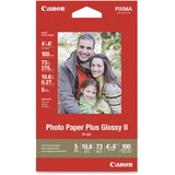 """Canon PP-201 Photo Paper - 4"""" x 6"""" - Glossy - 100 / Pack - White"""