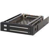 StarTech.com 2 Drive 2.5in Trayless Hot Swap SATA Mobile Rack Backplane - Storage bay adapter - black - 2 x 2.5 - Int (HSB220SAT25B)