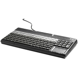 HP POS Keyboard - 106 Keys - QWERTY Layout - Magnetic Stripe Reader - USB