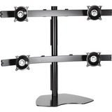 Chief KTP445B Widescreen Quad Monitor Table Stand - Up to 80lb Flat Panel Display - Black - Desk-mountable (KTP445B)