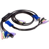 StarTech.com 2 Port USB VGA Cable KVM Switch with Audio - 2 x 1 - 2 x HD-15 Video (SV215MICUSBA)