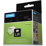 Dymo Address Labels - 1 1/8IN Width x 3 1/2IN Length - Direct Thermal - White - 700 / Roll - 700 / Each (30253)
