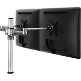 Visidec Dual display desk LCD/LED monitor articulated arm - Flexible movement with 3 points of articulation. Supports (VF-AT-D)