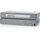 Belkin OmniView F1DN102D KVM Switch - 2 Computer(s) - 2560 x 1600 - 4 x USB - 3 x DVI - Rack-mountable - 1U - TAA Com (F1DN102D)