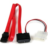 StarTech.com 20in Slimline SATA to SATA with LP4 Power Cable Adapter - 20 (SLSATAF20)