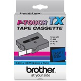 Brother TX5511 1 Inch Laminated Tape Black on Blue