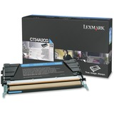 Lexmark Toner Cartridge - Laser - Standard Yield - 6000 Pages - Cyan - 1 Each (C734A2CG)