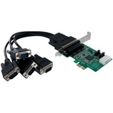 StarTech.com 4 Port Native PCI Express RS232 Serial Adapter Card with 16950 UART - PCI Express - 4 x DB-9 Male RS-232 (PEX4S952)