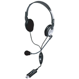 Andrea NC-185VM Headset - Stereo - USB - Wired - 32 Ohm - 50 Hz - 20 kHz - Over-the-head - Binaural - Semi-open - 8 f (C1-1022600-1)