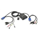 IOGEAR GCS72U KVM Switch with Audio - 2 x 1 - 2 x HD-15 Video, 2 x Keyboard, 2 x Mouse (GCS72U)