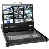 Tripp Lite 16-Port IP Rack Console Cat5 KVM Switch 19IN LCD 1+1 User 1URM - 16 Computer(s) - 19IN - 16 x RJ-45 Keyboa (B070-016-19-IP)