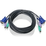Iogear KVM Cable - PS/2, VGA - 16ft