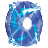 Cooler Master MegaFlow 200 - Sleeve Bearing 200mm Blue LED Silent Fan for Computer Cases - Blue LED, 200x200x30 mm, 7 (R4-LUS-07AB-GP)