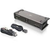 IOGEAR GCS1102 DVI KVM Switch - 2 x 1 - 2 x DVI-I Video, 2 x Microphone, 2 x Audio, 2 x Type B USB (GCS1102)