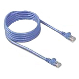 Belkin - Patch cable, RJ-45 (M), RJ-45 (M), 20 ft, UTP, ( CAT 5e ), molded, stranded, snagless, blue, TAA
