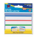 Avery Removable Top Bar File Folder Label Pads, AVE22026