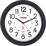 "Lorell 9"" Radio Controlled Profile Wall Clock"