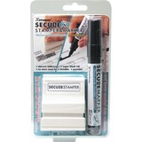 "Xstamper Small Security Stamper Kit 0.50"" Impression Width x 1.69"" Impression Length - Black - 1 / Pack"