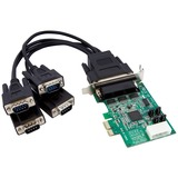 StarTech.com 4 Port Low Profile Native RS232 PCI Express Serial Card with 16950 UART - PCI Express - 4 x DB-9 Male RS (PEX4S952LP)
