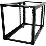 StarTech.com 12U 4 Post Server Equipment Open Frame Rack Cabinet w/ Adjustable Posts & Casters - 12U Wide - Black - S (4POSTRACK12A)