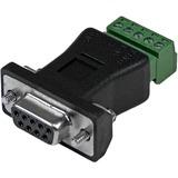 StarTech.com RS422 RS485 Serial DB9 to Terminal Block Adapter - 1 x DB-9 Male Serial - Terminal Block - Black (DB92422)