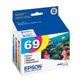 Epson DURABrite T069520 Original Ink Cartridge - Cyan, Magenta, Yellow - Inkjet - 4 Pack (T069520-S-K1)