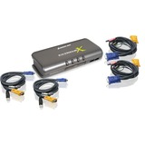IOGEAR MiniView GCS1734 KVM Switch - 4 x 1 - 4 x SPDB-15 (GCS1734)