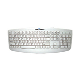 Seal Shield Silver Storm STWK503P Keyboard - Cable Connectivity - PS/2 Interface - Membrane - White