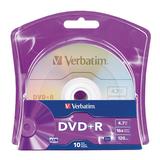 Verbatim DVD+R 4.7GB 16x 10pk Blister