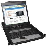 Tripp Lite 8-Port Rack Console KVM Switch built in IP w/ 19IN LCD 1U - 8 Computer(s) - 19IN LCD - SXGA - 1280 x 1024 (B020-U08-19-IP)