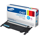 Samsung CLT-C407S Original Toner Cartridge - Cyan - Laser - 1000 Page