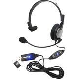 Andrea NC-181 VM USB On-Ear Mono (Monaural) Headset - Mono - USB - Wired - 32 Ohm - 50 Hz - 20 kHz - Over-the-head - (C1-1022300-50)