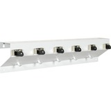 "Ex-Cell Kaiser Clincher 333-6 WHT2 Glossy Mop & Broom Holder - 7.5"" Height x 34"" Width x 5.5"" Depth - Recycled - White - Steel - 1Each"