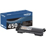 Brother Genuine TN450 Mono Laser High Yield Black Toner Cartridge - Monochrome Toner - Laser - High Yield - Black - 1 (TN450)