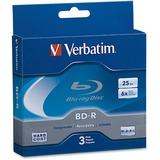 Verbatim 25 GB 6x Blu-ray Single Layer Recordable Disc BD-R, 3-Disc Jewel Case 97341