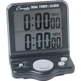 Champion Sport Dual Timer Stop Watch - 1 Day - Desktop, Wall Mountable - For Sports - Black