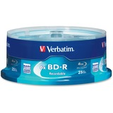 Verbatim BD-R 25GB 6X with Branded Surface - 25pk Spindle Box - 25GB - 25pk Spindle