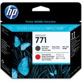 HP 771 Original Printhead - Single Pack - Inkjet - Matte Black, Red - 1 Each (CE017A)